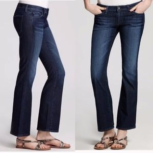 AG The Angelina Petite Bootcut Dark Wash Jeans 32R